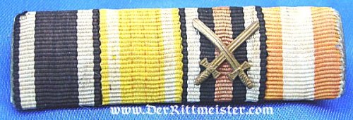 SAXONY - RIBBON BAR - FOUR PLACE - Imperial German Military Antiques Sale