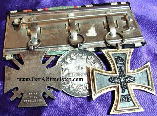 HESSE-DARMSTADT - MEDAL BAR - THREE PLACE - Imperial German Military Antiques Sale