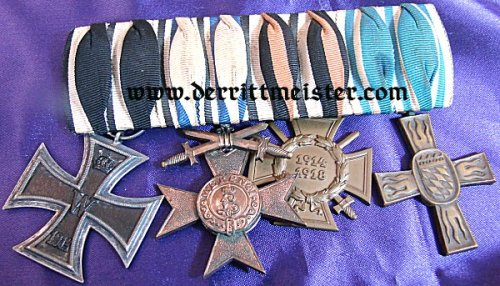 BAVARIA - MEDAL BAR - FOUR PLACE - Imperial German Military Antiques Sale
