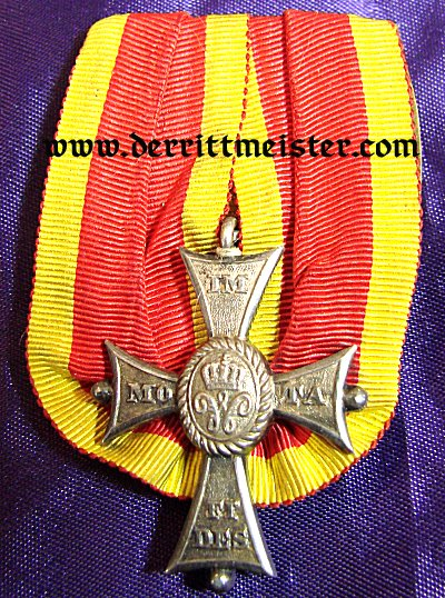 MEDAL BAR - ONE PLACE - HEINRICH THE LION SERVICE ORDER 2nd CLASS - Imperial German Military Antiques Sale
