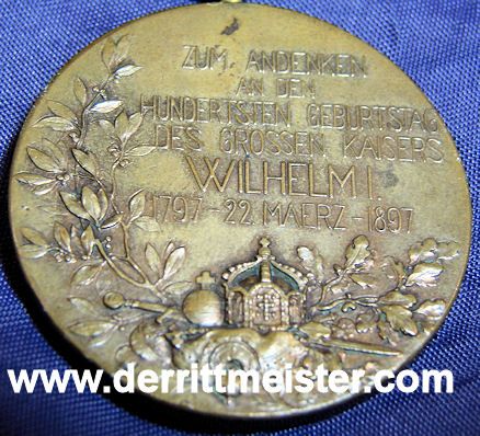 MEDAL BAR - ONE PLACE - Imperial German Military Antiques Sale
