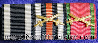 RIBBON BAR - THREE PLACE - OFFICERS - Imperial German Military Antiques Sale