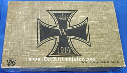 GERMANY - PATRIOTIC BOX - HIGHLIGHTING THE 1914 IRON CROSS - Imperial German Military Antiques Sale