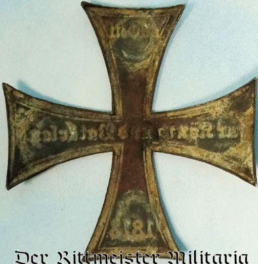 WAPPEN - PRUSSIA - CROSS FOR RESERVE OFFICER - PICKELHAUBE, KUGELHELM, ETC. - Imperial German Military Antiques Sale