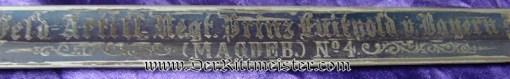 """FELD-ARTILLERIE-REGIMENT Nr 4 """"BLUE PANEL"""" OFFICER'S SWORD WITH PORTÉPÉE - PRUSSIA - Imperial German Military Antiques Sale"""