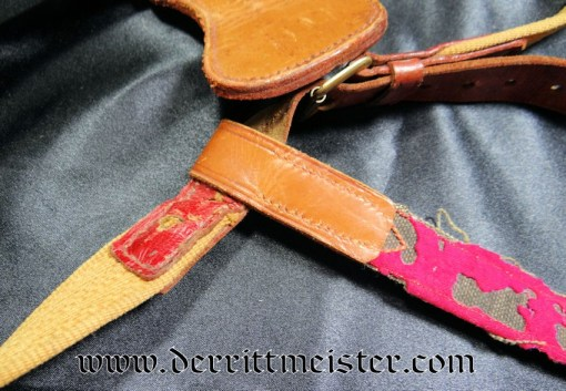GERMANY - SWORD BELT WITH SWORD HANGER ATTACHMENT AND SWORD HANGER - Imperial German Military Antiques Sale