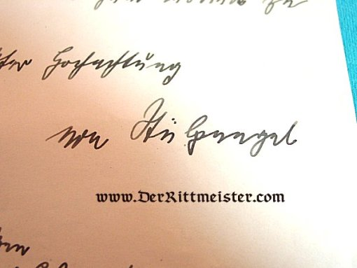 AUTOGRAPHED LETTER FROM PRINZ HEINRICH OF PRUSSIA - Imperial German Military Antiques Sale