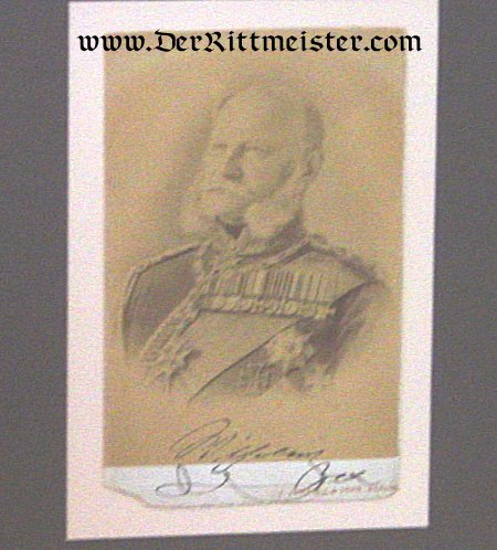 FRAMED COLLAGE - KAISER WILHELM I - Imperial German Military Antiques Sale
