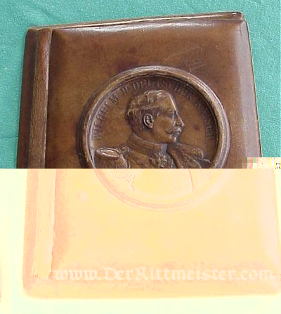 WILHELM II LEATHER NOTEBOOK - Imperial German Military Antiques Sale