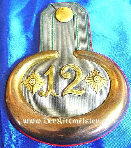 SAXONY - EPAULETTES - HAUPTMANN - INFANTERIE-REGIMENT Nr 12 - Imperial German Military Antiques Sale