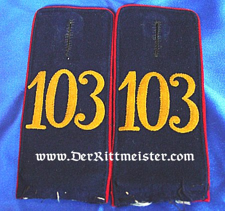 SAXONY - SHOULDER STRAPS - ENLISTED MAN - INFANTERIE-REGIMENT Nr 103 - Imperial German Military Antiques Sale