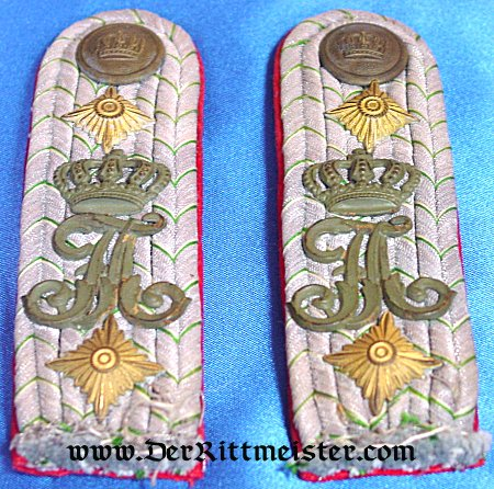 SAXONY - SHOULDER BOARDS - HAUPTMANN - INFANTERIE-REGIMENT Nr 104 - Imperial German Military Antiques Sale