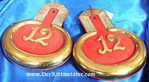 PRUSSIA - EPAULETTES - LEUTNANT - GRENADIER-REGIMENT Nr 12 - Imperial German Military Antiques Sale