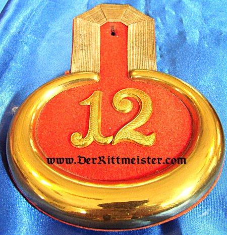 PRUSSIA - EPAULETTES - LEUTNANT - GRENADIER-REGIMENT Nr 12 - Imperial German Military Antiques Sale