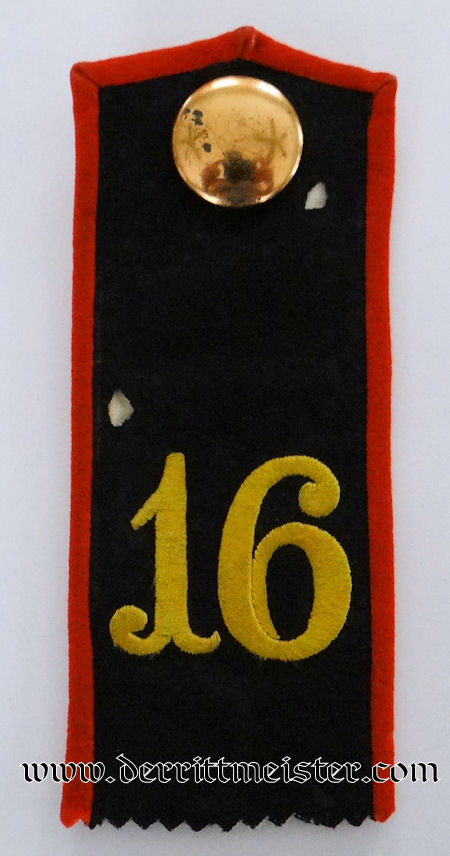 PRUSSIA - SHOULDER STRAP - ENLISTED MAN - INFANTERIE–REGIMENT Nr 16 - Imperial German Military Antiques Sale