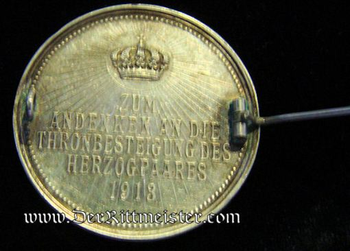 PATRIOTIC PIN FEATURING HERZOG ERNST AUGUST AND HERZOGIN VIKTORIA LUISE - BRAUNSCHWEIG - Imperial German Military Antiques Sale