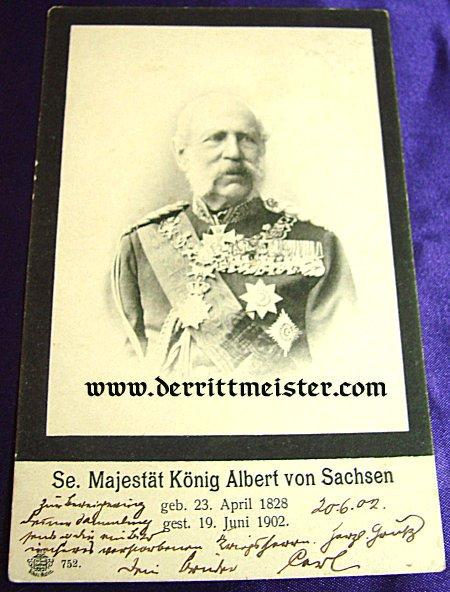 POSTCARD - KÖNIG ALBERT - SAXONY - Imperial German Military Antiques Sale