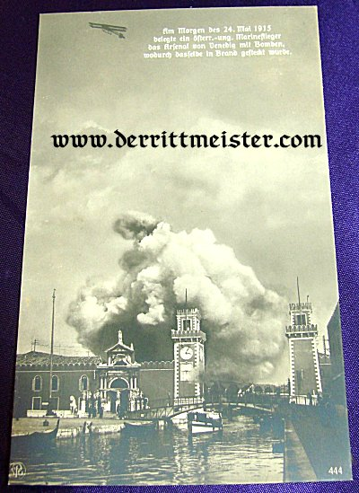 POSTCARD - NAVAL BOMBING RAID - VENICE - Imperial German Military Antiques Sale
