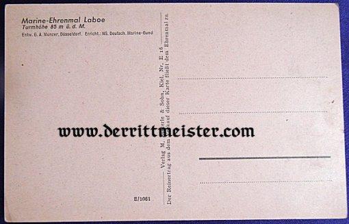 POSTCARD - NAVY MEMORIAL - KIEL - Imperial German Military Antiques Sale