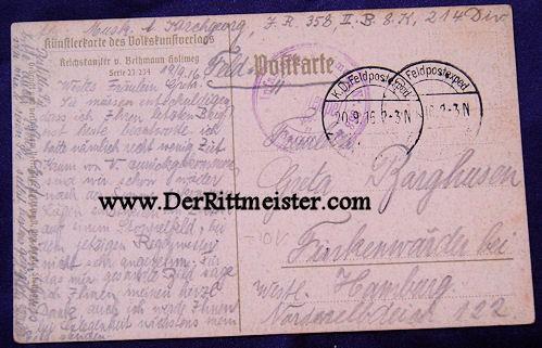POSTCARD - CHANCELLOR von BETHMANN-HOLLWEG - Imperial German Military Antiques Sale