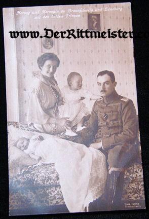 POSTCARD - HERZOG ERNST AUGUST - WIFE - TWO CHILDREN - BRAUNSCHWEIG - Imperial German Military Antiques Sale