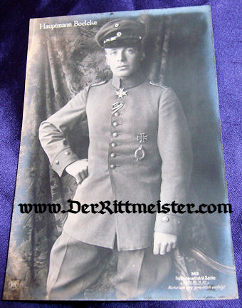 SANKE CARD Nr 363 PLM WINNER HAUPTMANN OSWALD BOELCKE - Imperial German Military Antiques Sale