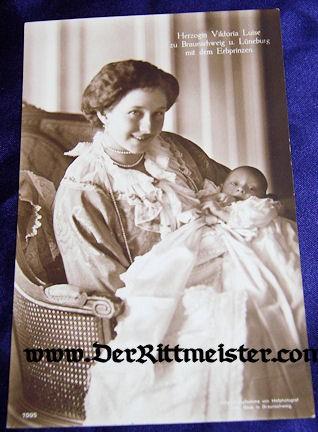 HERZOGIN VIKTORIA LUISE - YOUNG CHILD - BRAUNSCHWEIG - Imperial German Military Antiques Sale