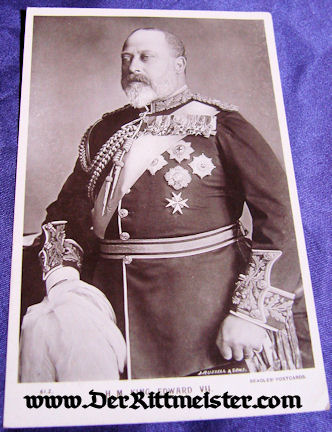 POSTCARD - KING EDWARD VII - ENGLAND - Imperial German Military Antiques Sale