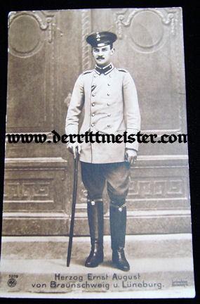 POSTCARD - HERZOG ERNST AUGUST - BRAUNSCHWEIG - Imperial German Military Antiques Sale