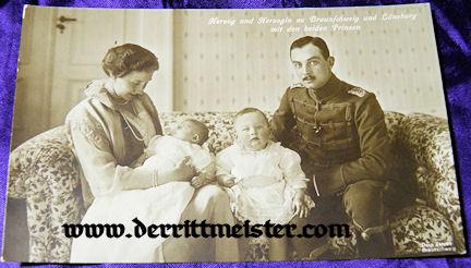 POSTCARD - HERZOG ERNST AUGUST - HERZOGIN VIKTORIA LUISE - TWO OLDEST SONS - BRAUNSCHWEIG - Imperial German Military Antiques Sale