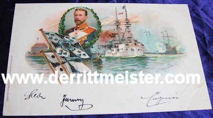 COLOR POSTCARD - GROßADMIRAL PRINZ HEINRICH - PRUSSIA - Imperial German Military Antiques Sale
