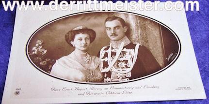 POSTCARD - HERZOG ERNST AUGUST - BRAUNSCHWEIG - PRINZESSIN VIKTORIA LUISE - Imperial German Military Antiques Sale