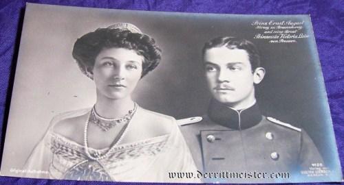 POSTCARD - HERZOG ERNST AUGUST - HERZOGIN VIKTORIA LUISE - BRAUNSCHWEIG - Imperial German Military Antiques Sale