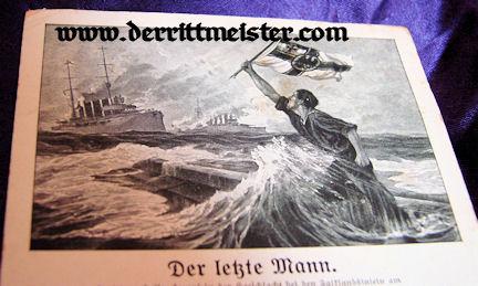"POSTCARD - POEM - ""THE LAST MAN"" - PROFESSOR HANS BOHRDT - Imperial German Military Antiques Sale"