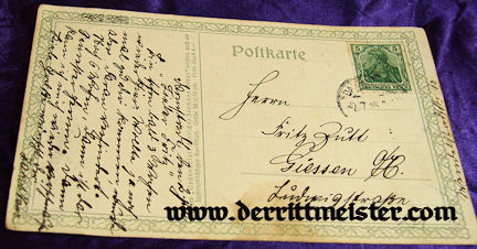 "POSTCARD - POEM - ""THE LAST MAN"" - PROFESSOR HANS BOHRDT - Imperial German Military Antiques Sale"
