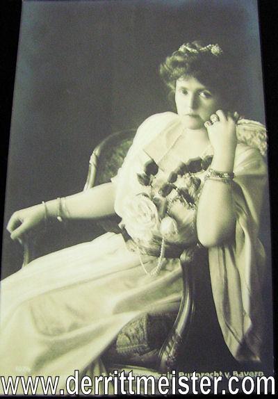 POSTCARD - BAVARIAN KRONPRINZ RUPPRECHT'S WIFE - Imperial German Military Antiques Sale
