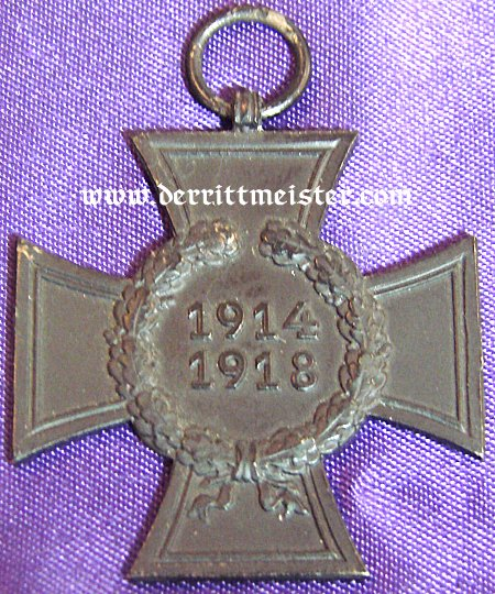HINDENBURG CROSS - NEXT OF KIN - Imperial German Military Antiques Sale