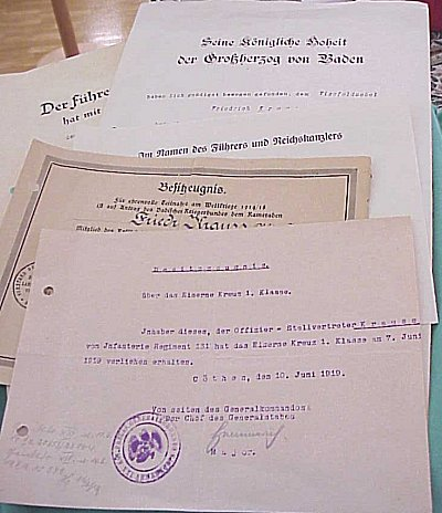 GERMANY - DOCUMENT GROUP TO AN OFFICER - Imperial German Military Antiques Sale