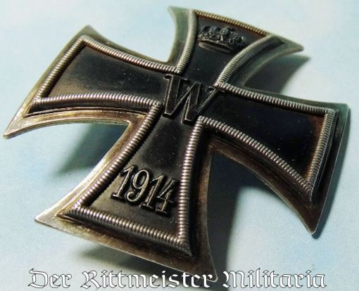 IRON CROSS - 1914 - 1st CLASS - ENGRAVED VAULTED - Imperial German Military Antiques Sale