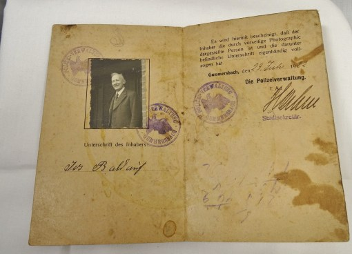 PERSONAL POST WORLD WAR I AUSWEIS - Imperial German Military Antiques Sale
