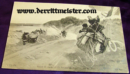 POSTCARD - FRENCH HOT-AIR BALLOON - CAVALRY - Imperial German Military Antiques Sale