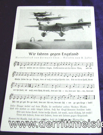 THIRD REICH LUFTWAFFE - POSTCARD - Imperial German Military Antiques Sale