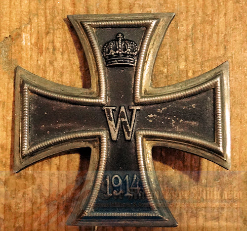 IRON CROSS - 1914 - 1st CLASS - KO HALLMARK - ENGRAVED - Imperial German Military Antiques Sale