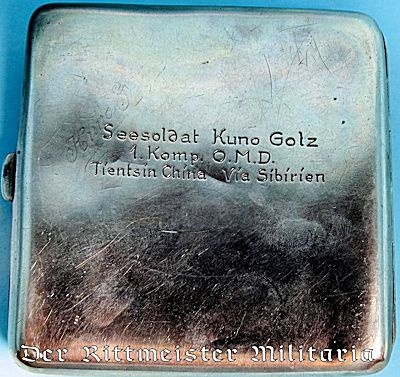 GERMANY COLONIAL - CIGARETTE CASE - SILVER - CHINA SEA-SOLDIER'S - Der  Rittmeister Militaria LLC