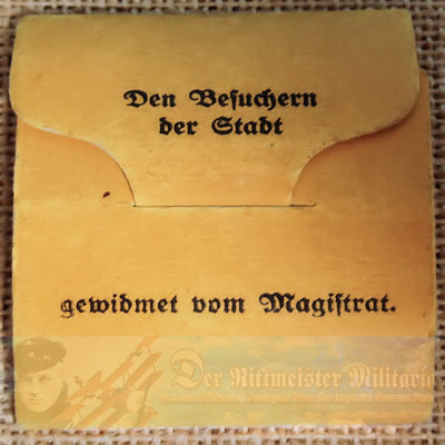 TABLE MEDAL -1,000th ANNIVERSARY OF NORDHAUSEN IN ORIGINAL PURCHASE PACKET - Imperial German Military Antiques Sale