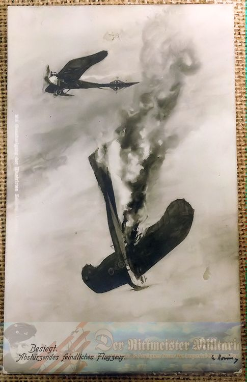 EARLY POSTCARD SHOWING TAUBE MONOPLANE - Imperial German Military Antiques Sale