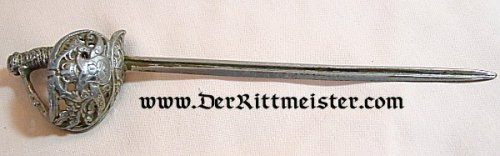 PRUSSIA - SWORD - MINIATURE - OTTO von BISMARCK - Imperial German Military Antiques Sale