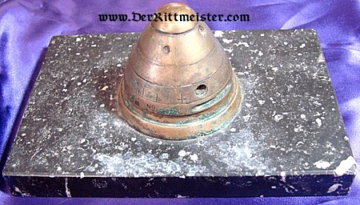 GERMANY - DESK PIECE - MADE FROM A FUSE FROM AN ARTILLERY SHELL - Imperial German Military Antiques Sale