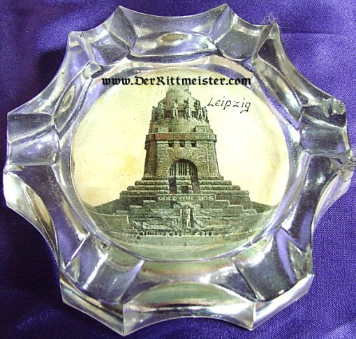 GERMANY - ASHTRAY - VÖLKERSCHLACHTDENKMAL IN LEIPZIG - GLASS - Imperial German Military Antiques Sale