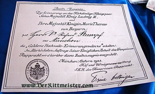 BAVARIA - DOCUMENT GROUP - DOCTOR WHO SERVED IN WWI AND WW II - Imperial German Military Antiques Sale
